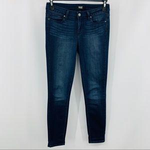 Paige Verdugo Ankle Blue Five Pocket Denim Jeans